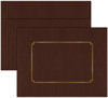 Brown Leather Certificate Envelope