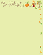 Be Thankful Letterhead