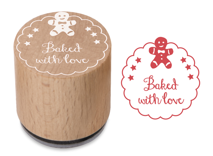 Woodies Stamp Baked With Love