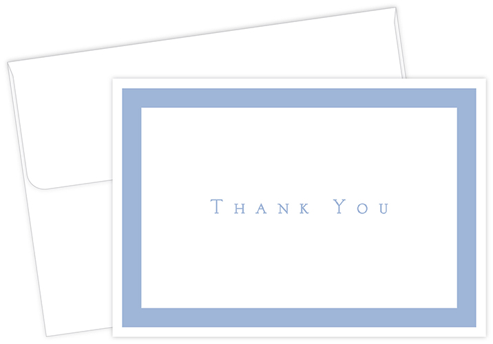 Periwinkle Thank You Notecard 50CT