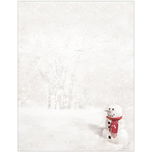 20102263 - Snowman in Red Scarf