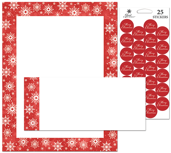 Snowy Flakes Stationery Kit 25CT