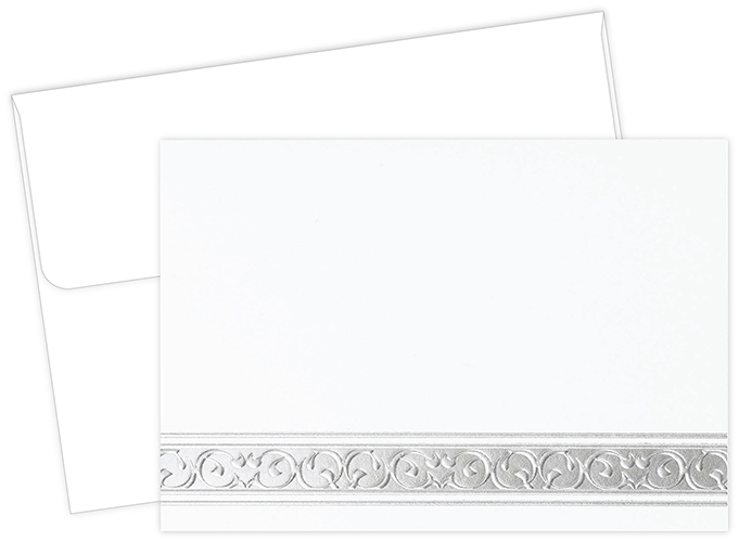 Silver Filigree Notecard 50CT