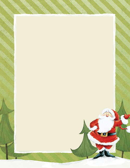 Jolly Santa Claus Letterhead 80CT
