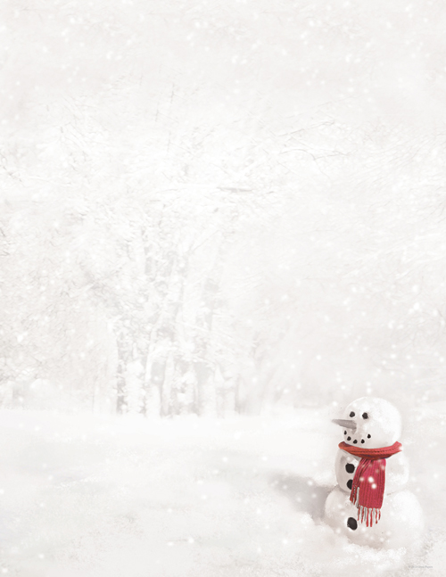 Snowman In Red Scarf Letterhead 80CT