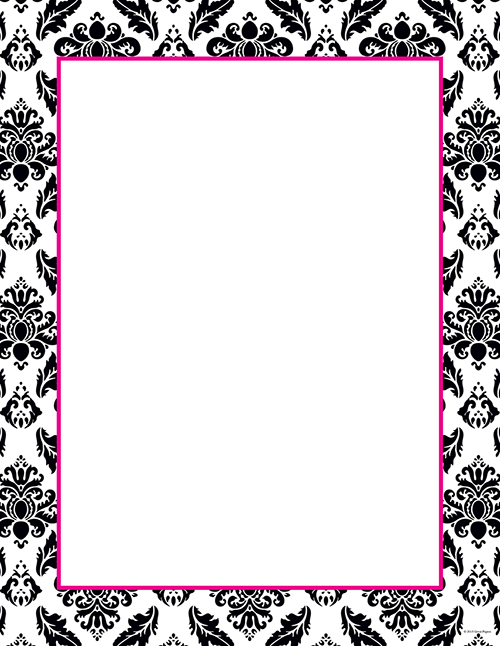 2012027 - Black & White Damask