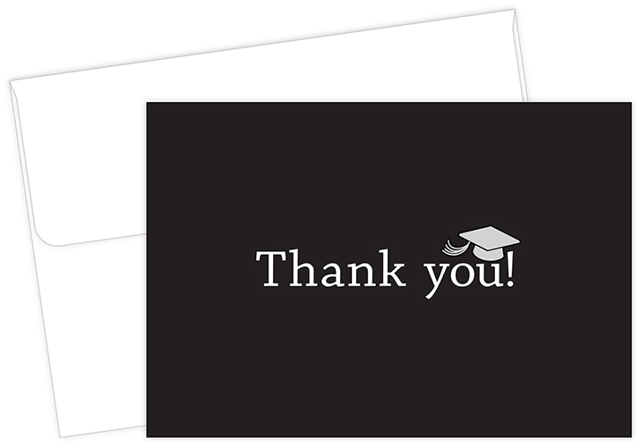 Classic Grad Thank You Notecard 50CT