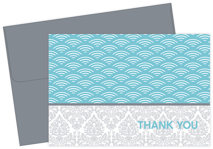 Fresh Slate Scallops Thank You Notecards 10CT