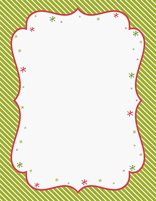 Peppermint Twist Letterhead