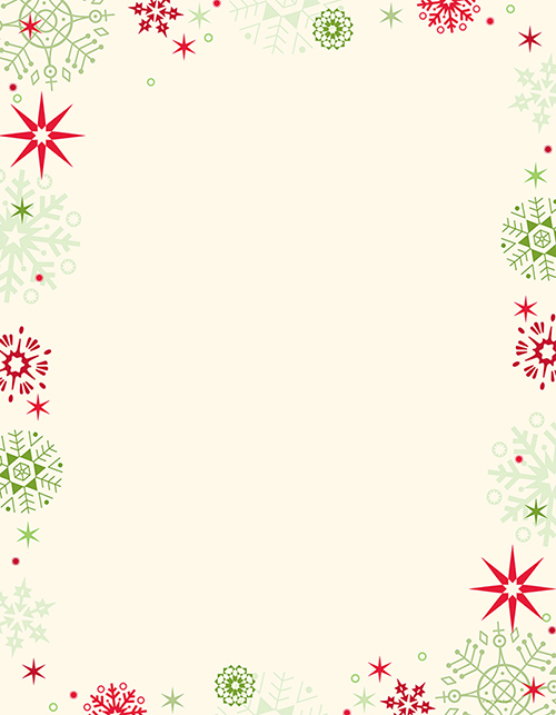 Red & Green Flakes Letterhead
