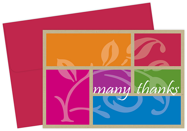 Color Block Thank You Notecard 24CT