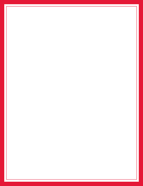 Red Border Letterhead