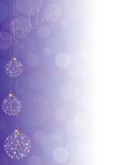 Believe Ornaments Letterhead 80CT
