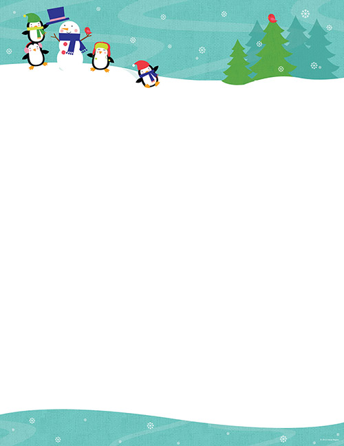 Penguins Playing Letterhead