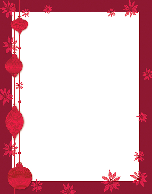 Painted Poinsettia Letterhead 80CT