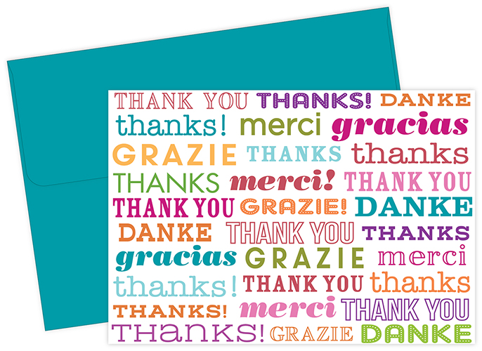 Type Set Thank You Note