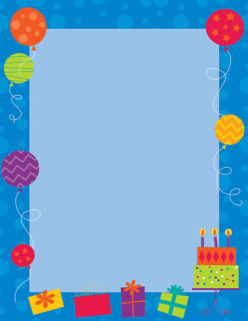 Birthday Party Letterhead