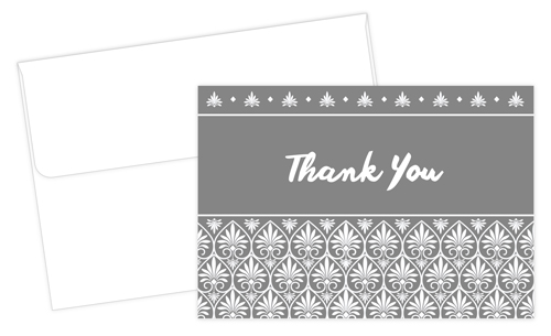Acanthus Thank You Notecards 24CT