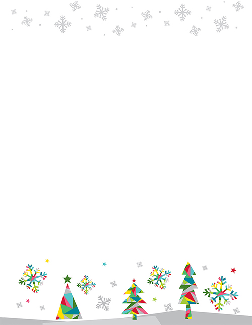 Prismatic Holiday Letterhead 80CT