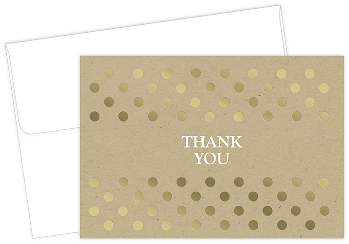 Kraft Thank You Notecard 50CT