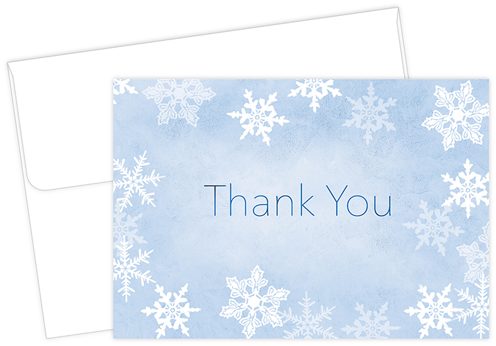 Merry Snowflake Thank You Notecard 50CT