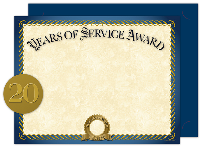 Years Of Service Cert Kit 20CT