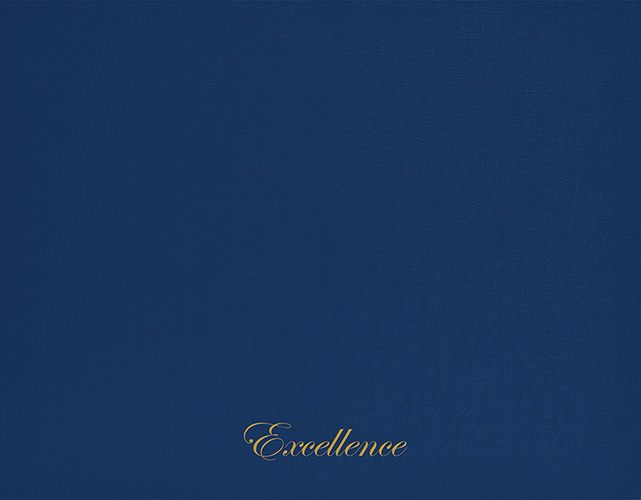 Excellence Navy Certificate Cover 5CT