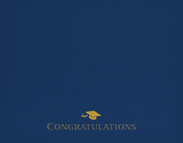Graduation Navy Certificate Cover 5CT