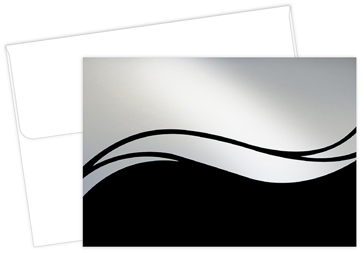 Shaded Swirl Thank You Notecard 50CT