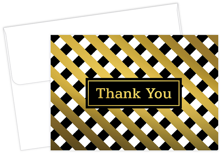 Lattice Gold Thank You Notecard 50CT