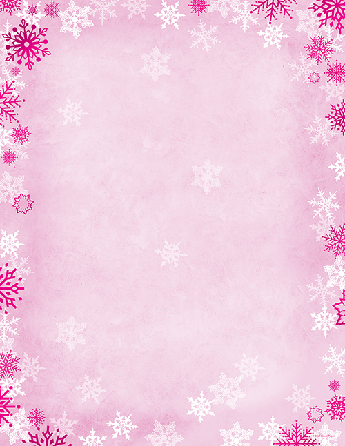 great papers pink snowflake letterhead