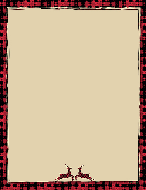 Buffalo Plaid Reindeer Letterhead 80CT