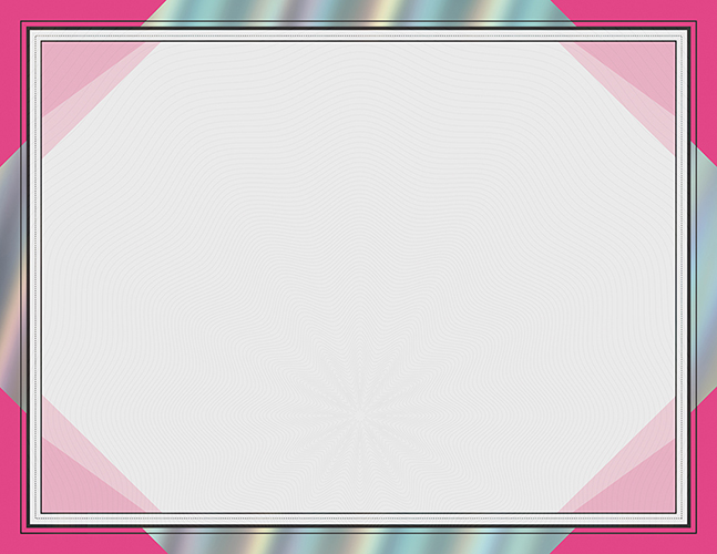 Happy Pink Rainbow Foil Certificates 15CT