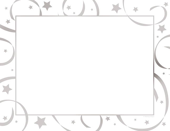 Silver Star Foil Certificates 15CT