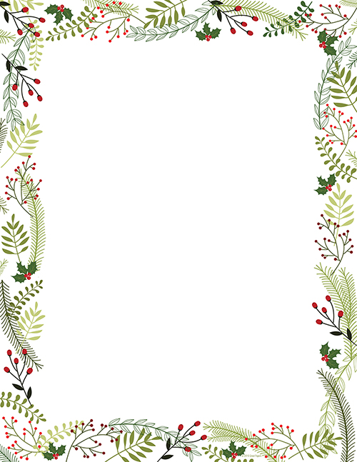 Merry Twigs Holly Letterhead 80CT