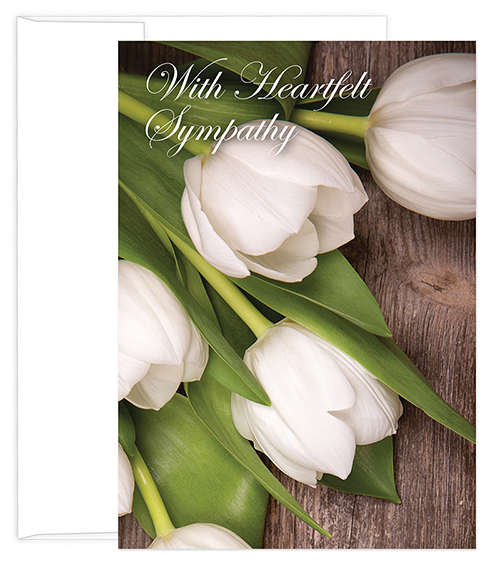 Great Papers Heartfelt Sympathy, Tulips, 3 CT