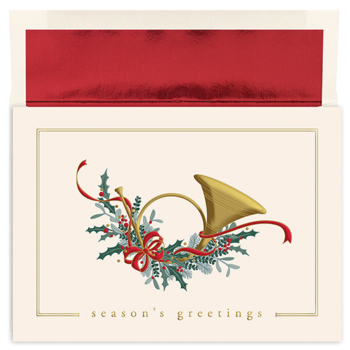 French Horn Holiday Card 16CT
