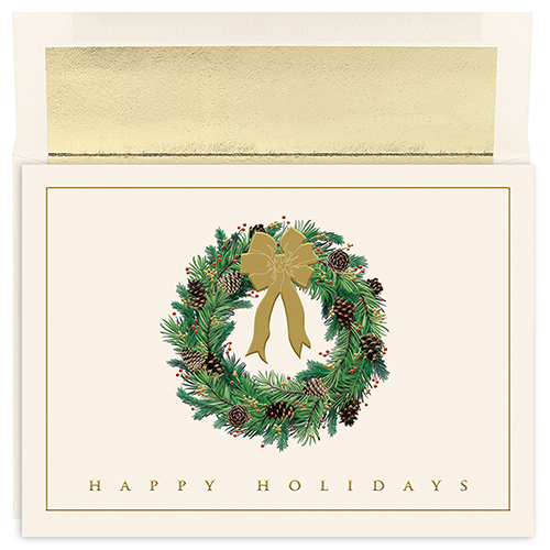 Festive Wreath Holiday Card 16CT