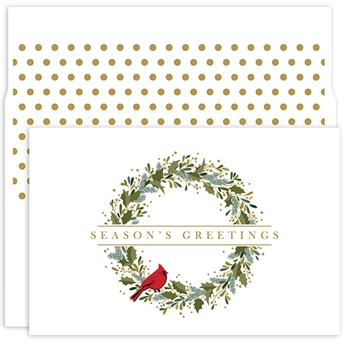 Petite Wreath Holiday Card 18CT