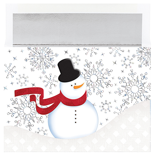 Snappy Snowman Holiday Card 18CT