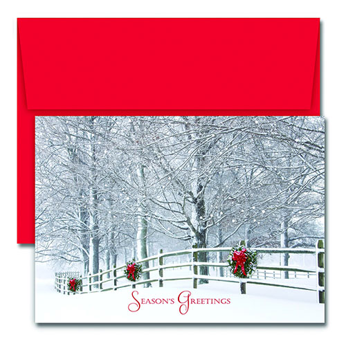 Holiday Fence Greeting Card 18