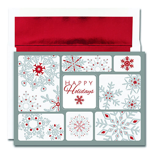 Snowflake Collage Greeting Card 16