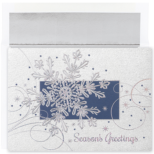 Snowflake Flurry Holiday Card 16Ct