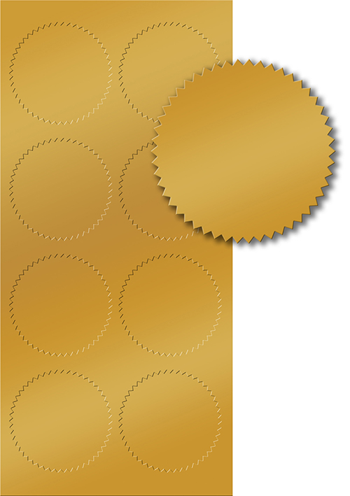 Gold Foil Seal 50CT
