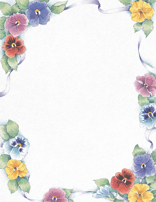 great papers pretty pansies letterhead