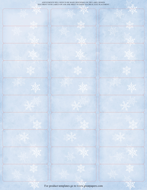 Winter Flakes Address Labels 150CT