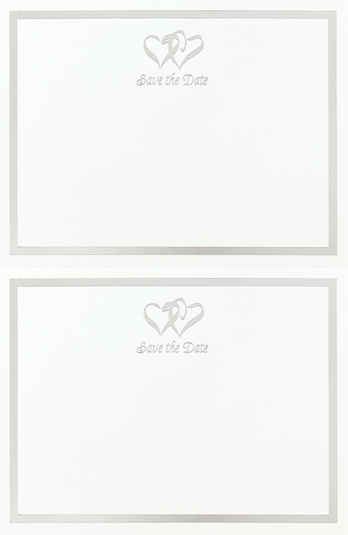 Silver Double Hearts 2 Up Postcard
