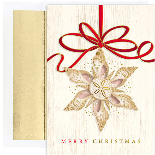 Shell Ornament Holiday Cards 18CT
