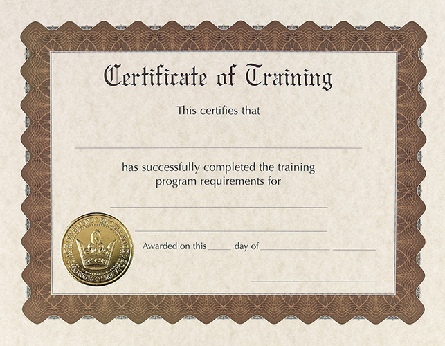 Training Stock Certificate 6CT
