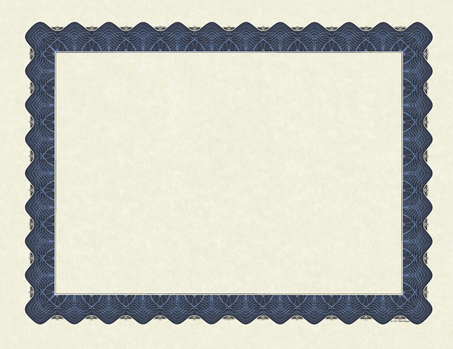Metallic Blue Certificate